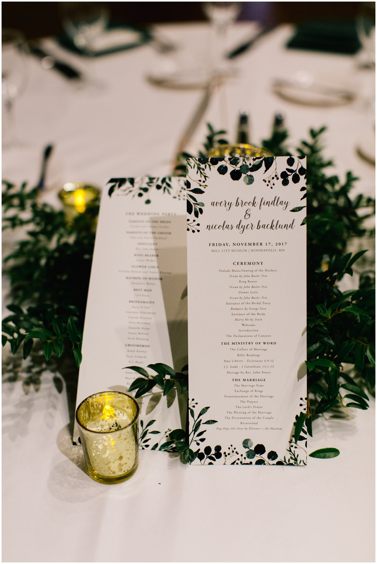 Greenery boho themed wedding