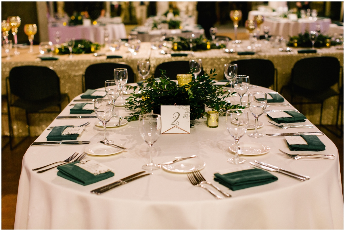 Greenery boho themed wedding tablescape and centerpiece
