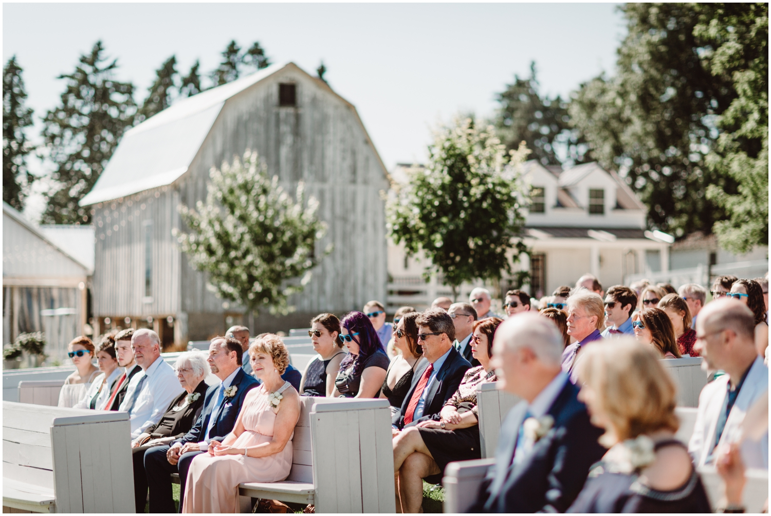 outdoor wedding ceremony at Legacy Hill Farm