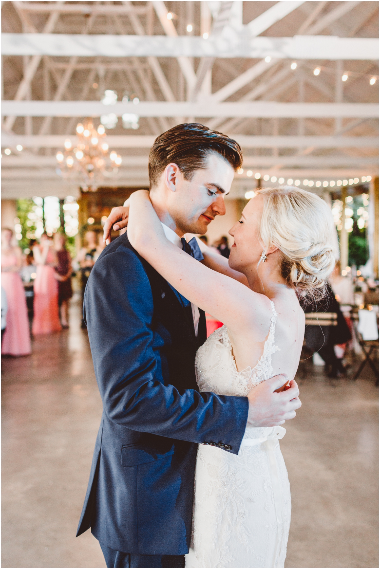 bride and groom's first dance at their MN wedding