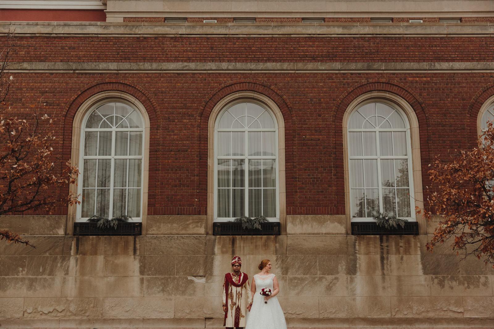 bride and groom in Minnesota