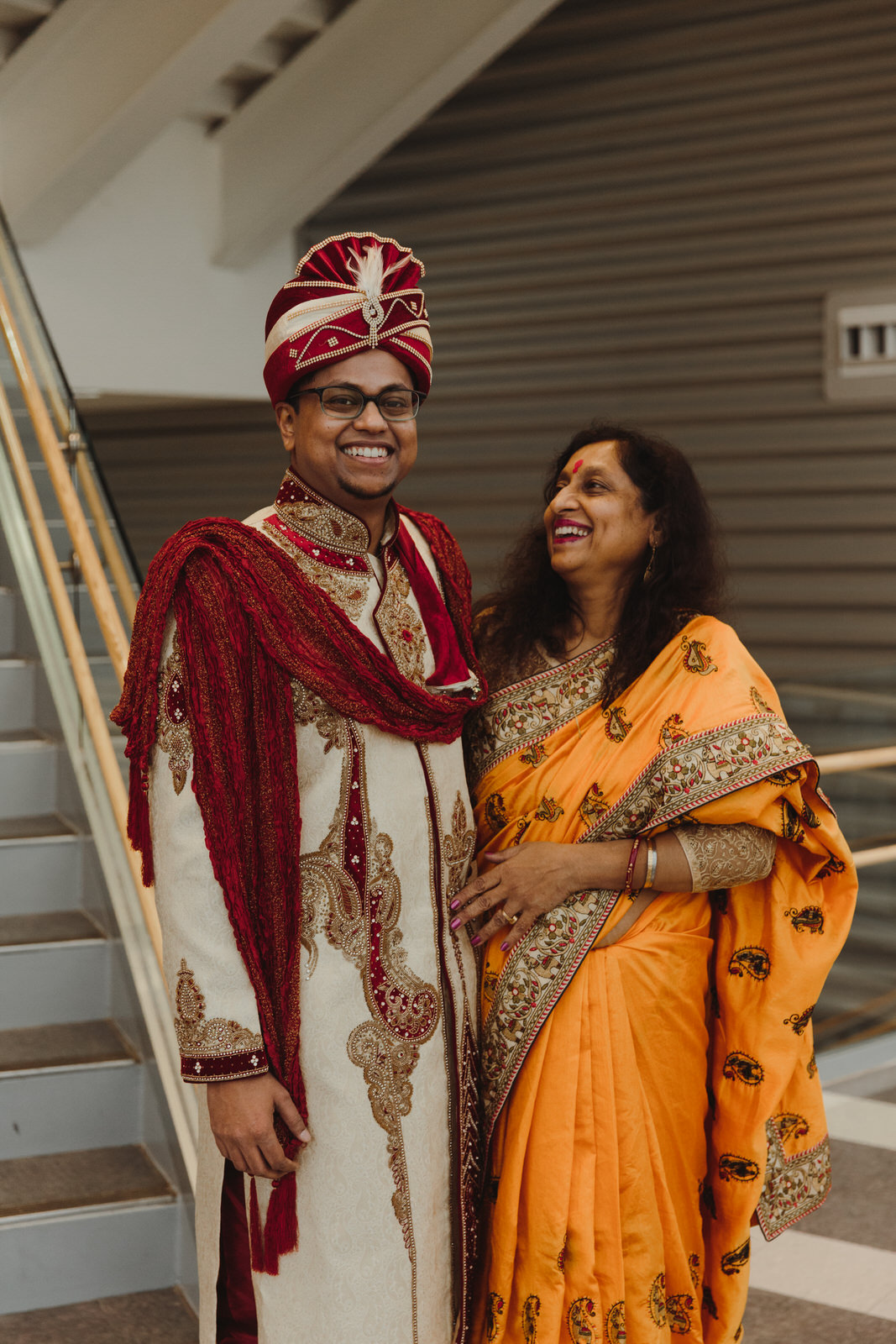 groom with his mother