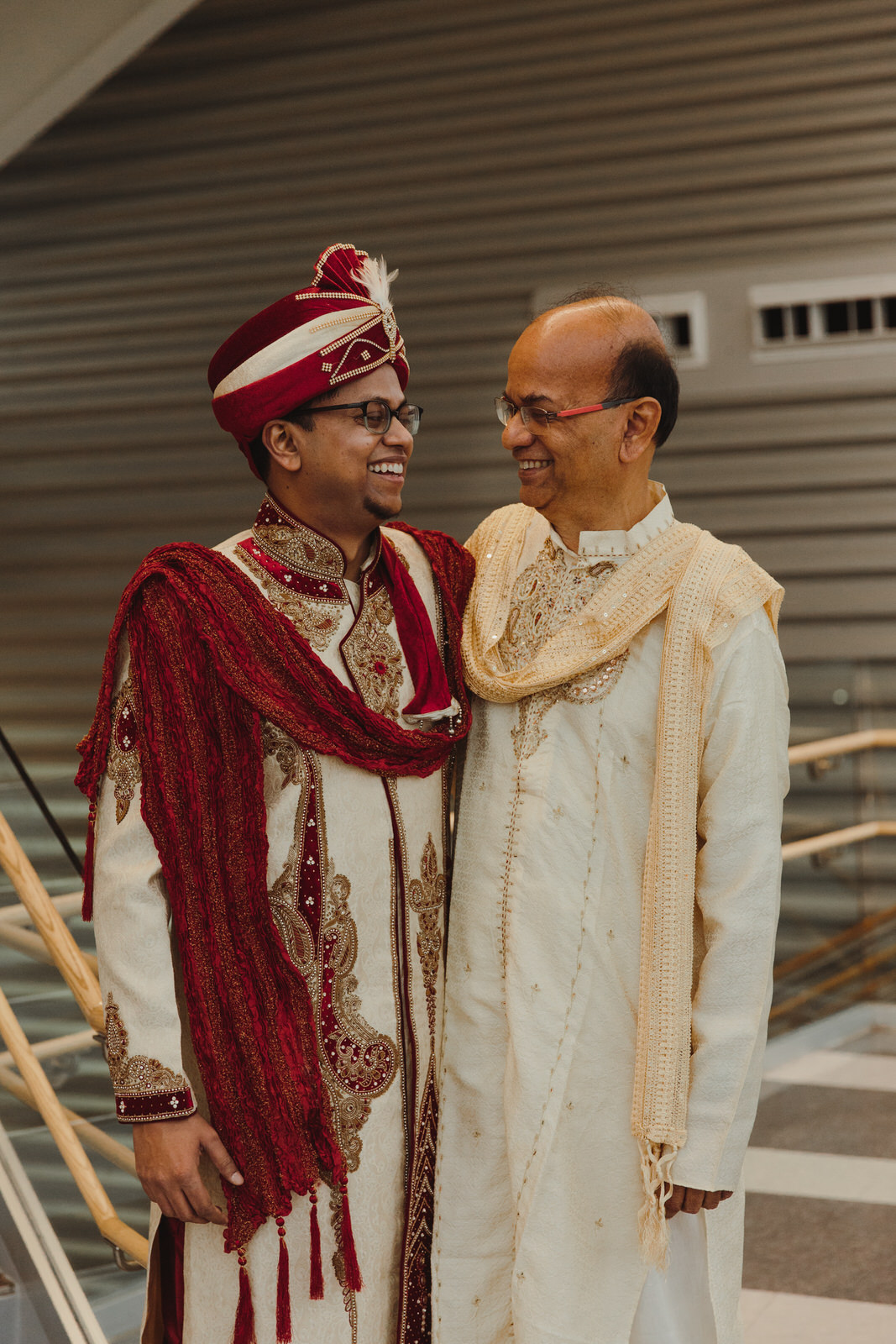 groom with his father