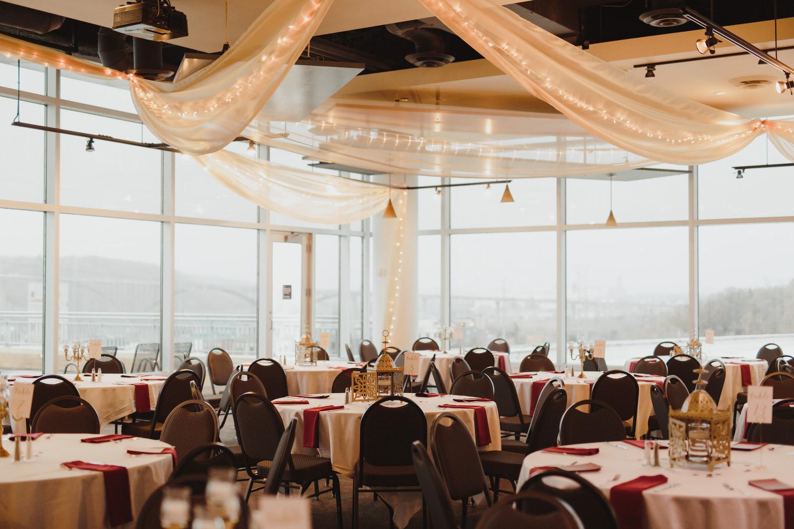 Minnesota wedding reception at the Science Museum of Minnesota