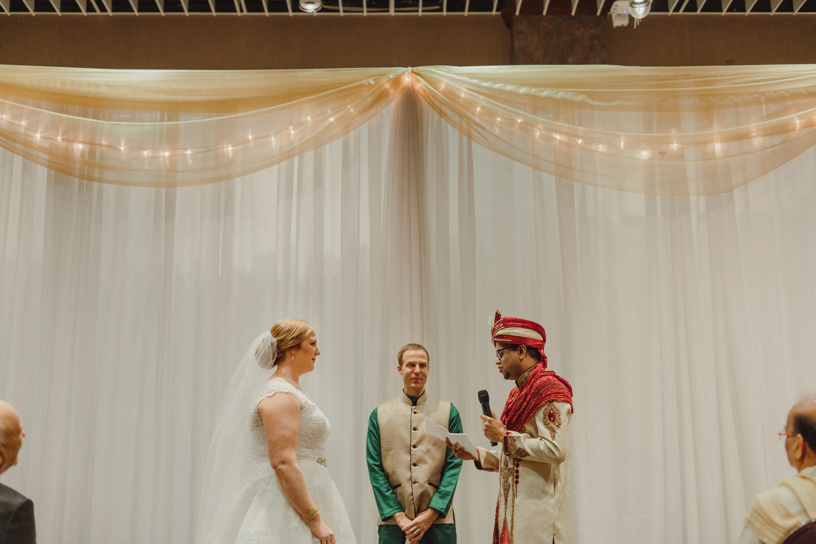 bride and groom getting married in MN