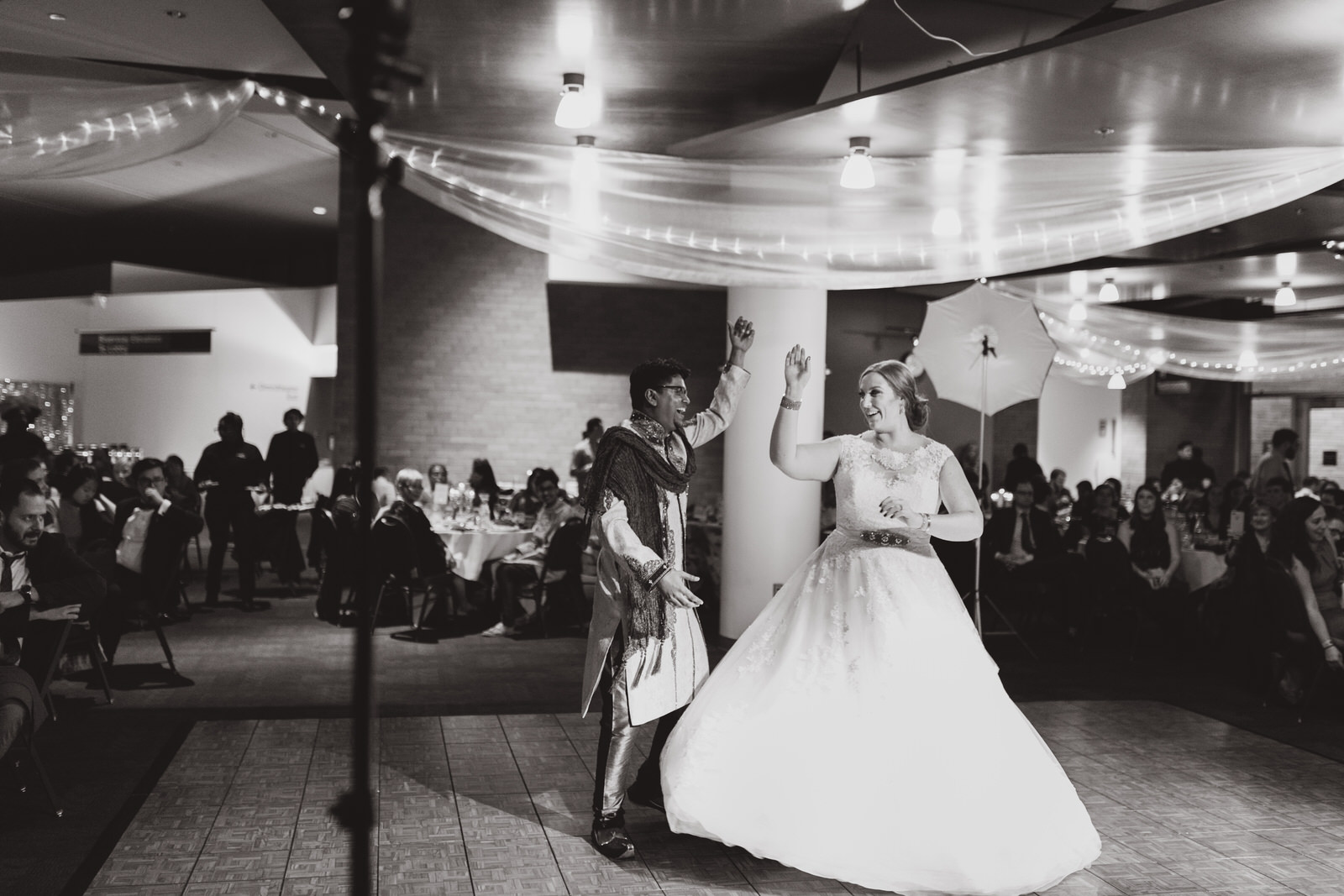 bride and groom dancing at their MN wedding