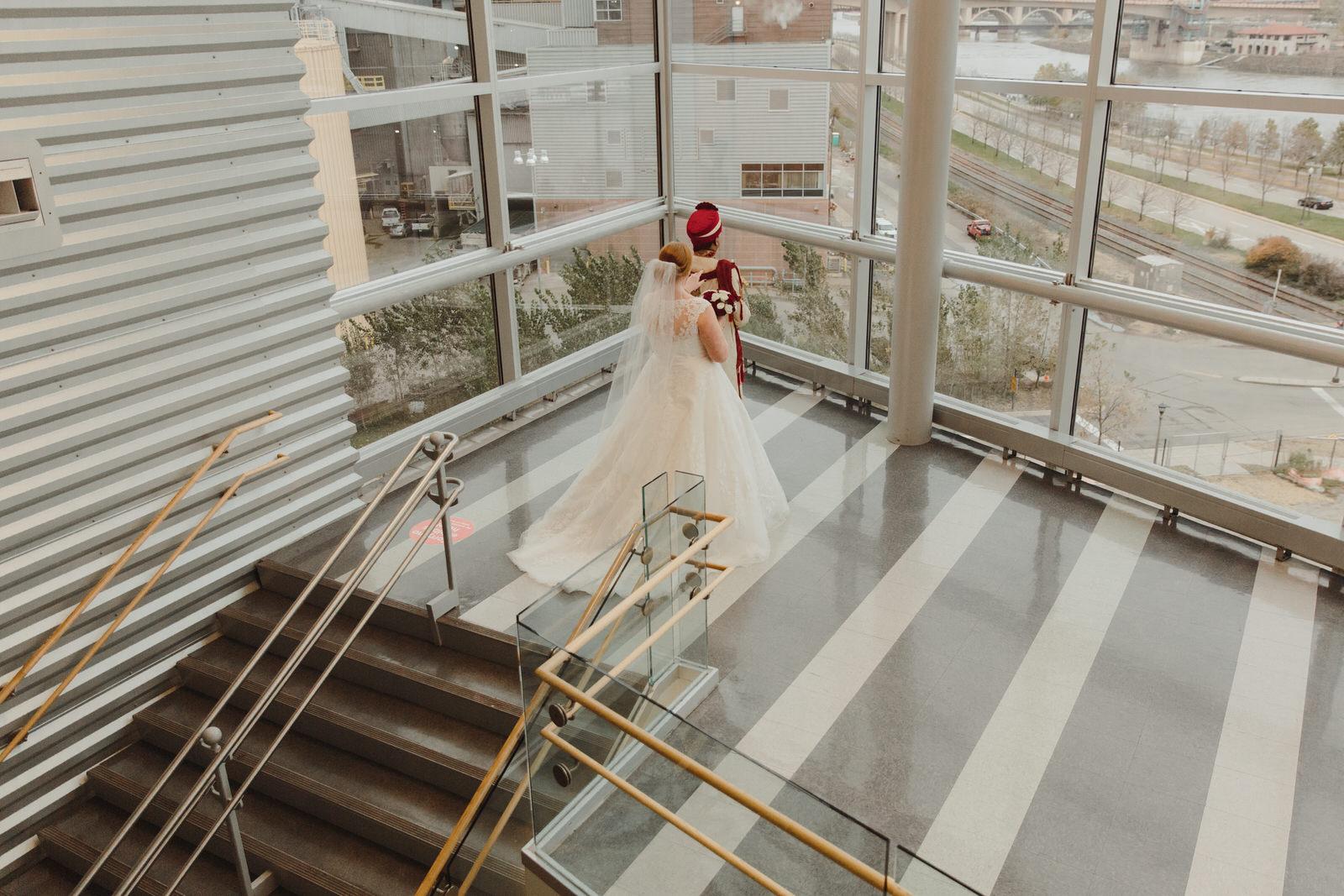 bride surprising groom for first look