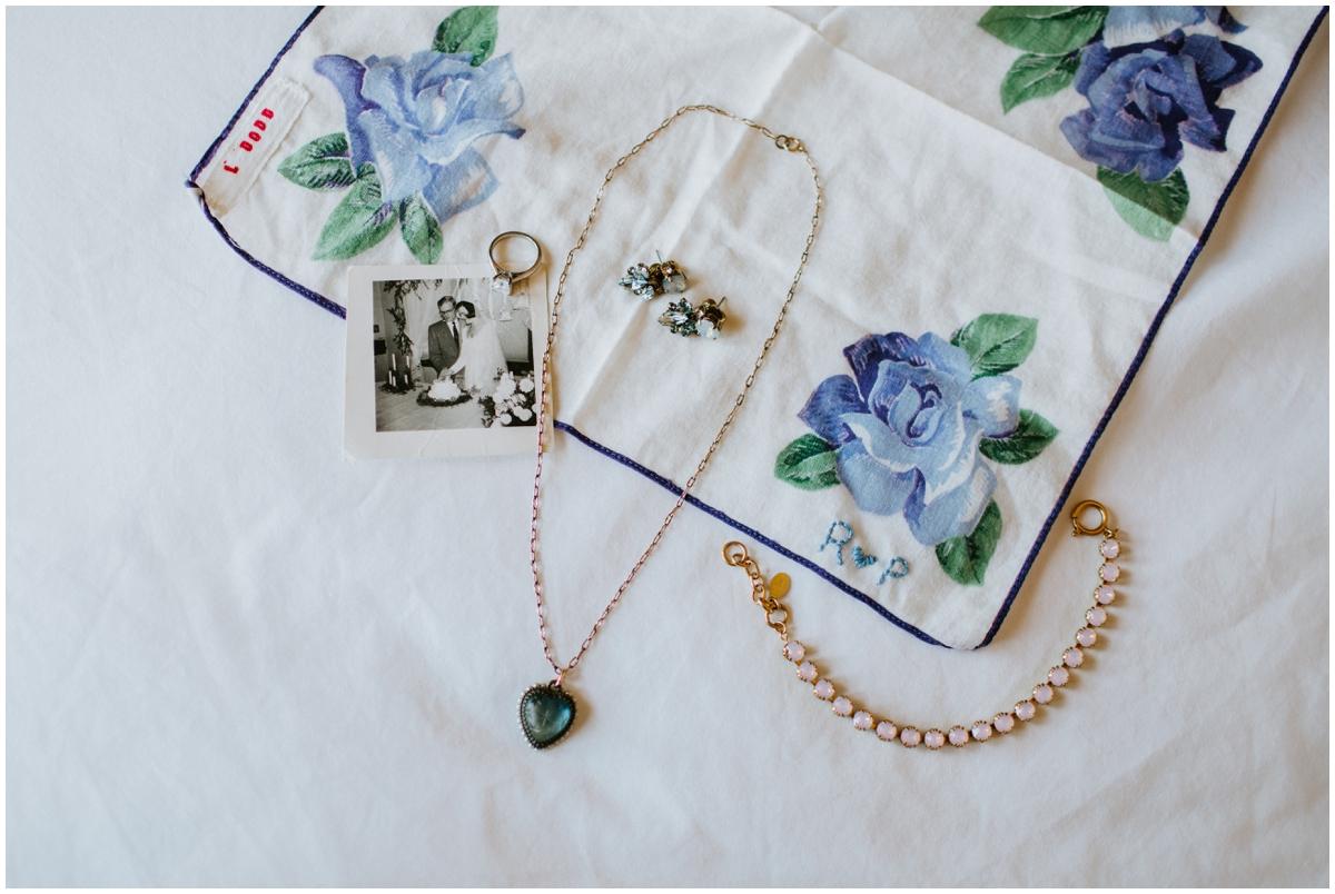 bride's wedding accessories