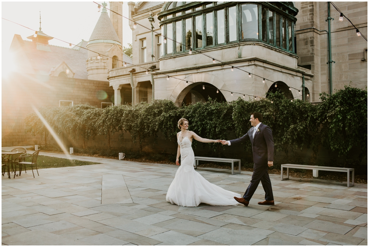 bride and groom at their Minneapolis Wedding