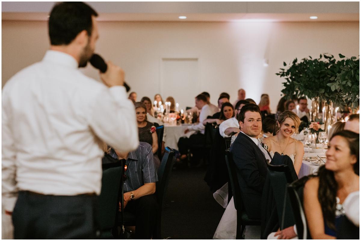 wedding guest making a speech