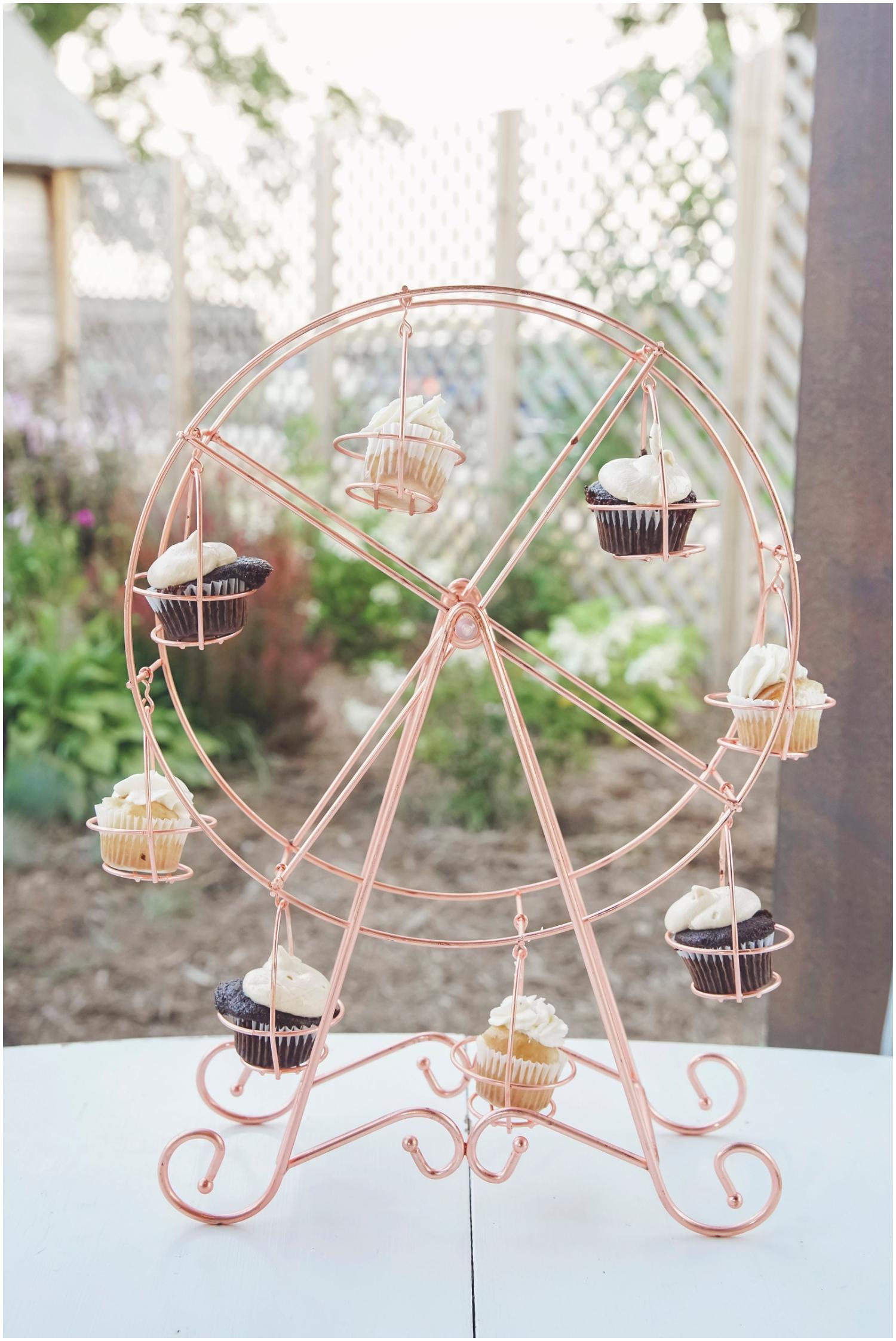 Unique dessert cupcake display