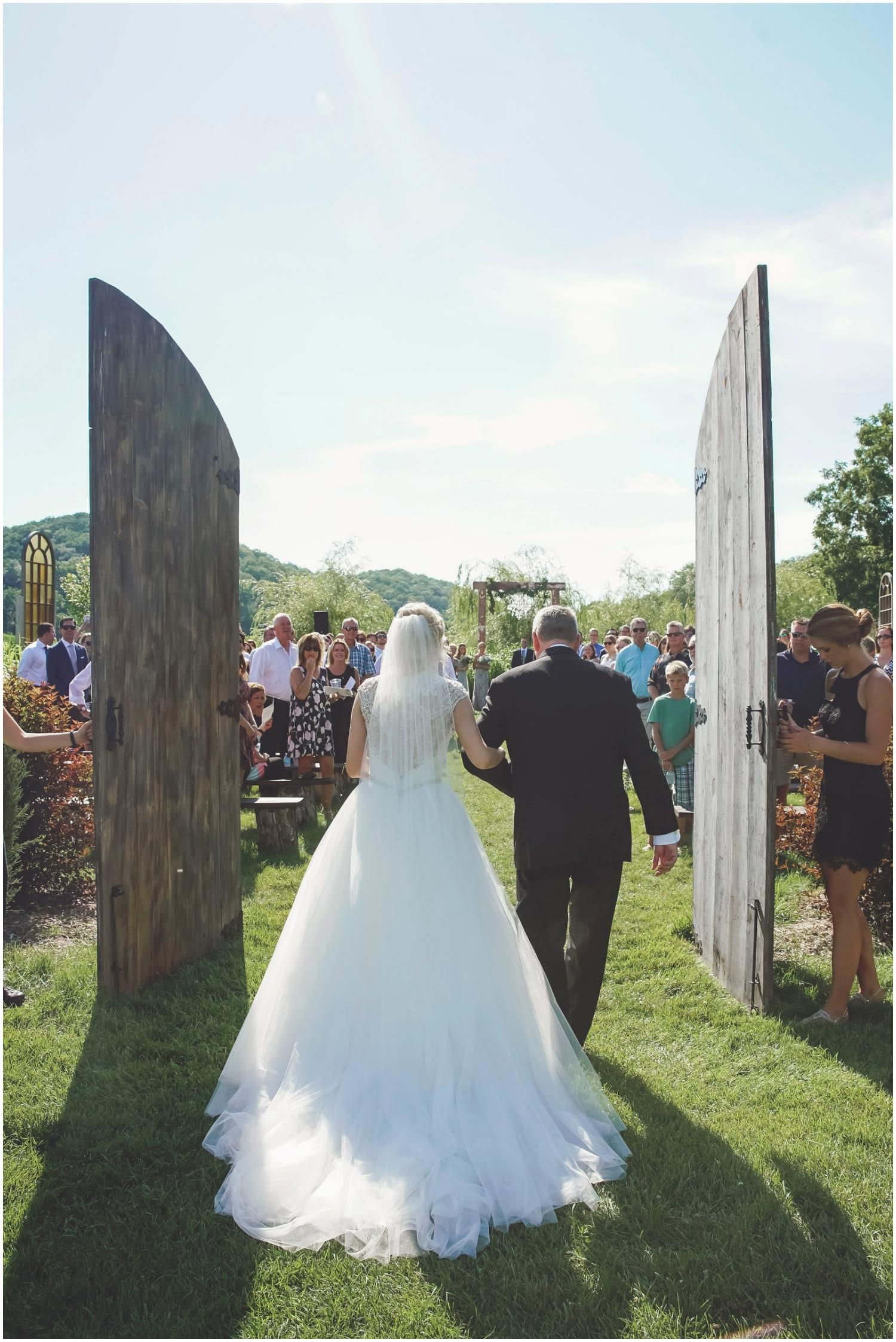 Outdoor wedding ceremony in Wisconsin