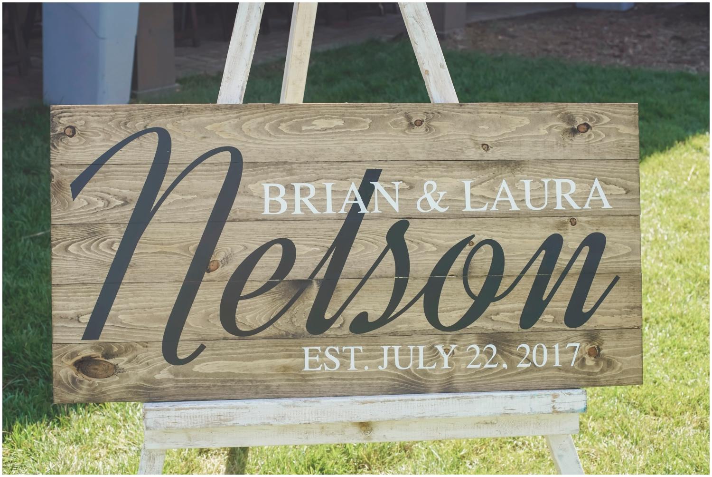 Wood wedding sign decor