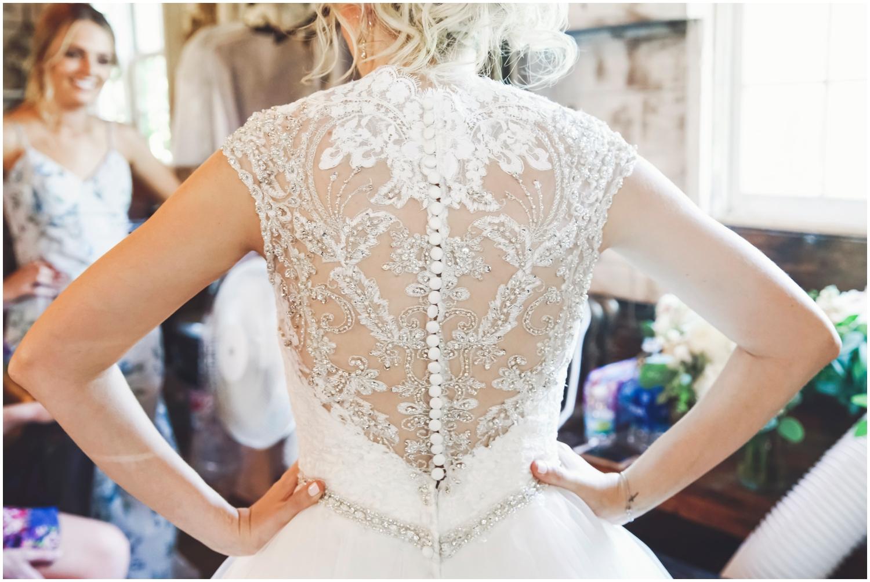 Gorgeous back wedding dress detail