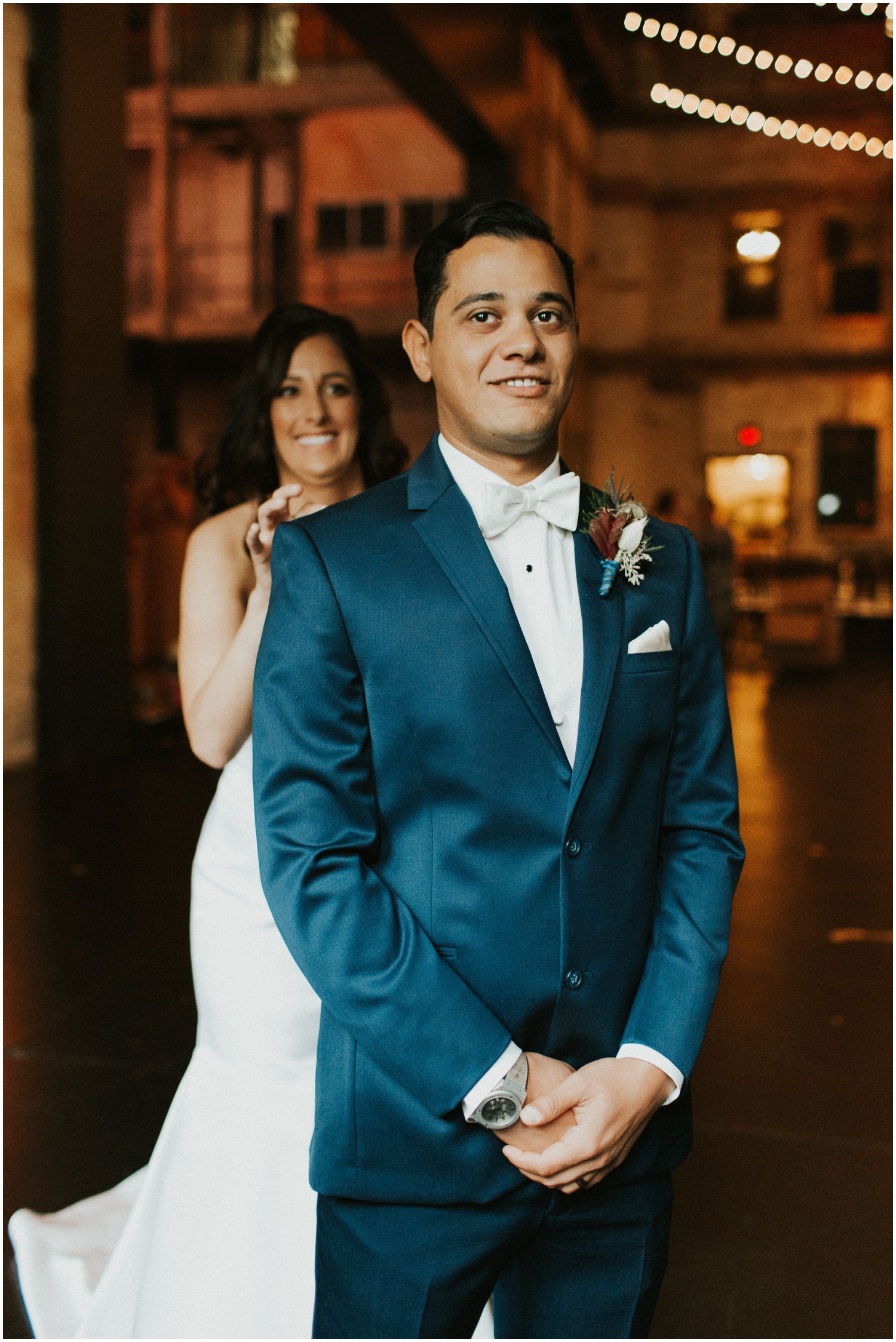 Bride and Groom's First Look at their MN Wedding
