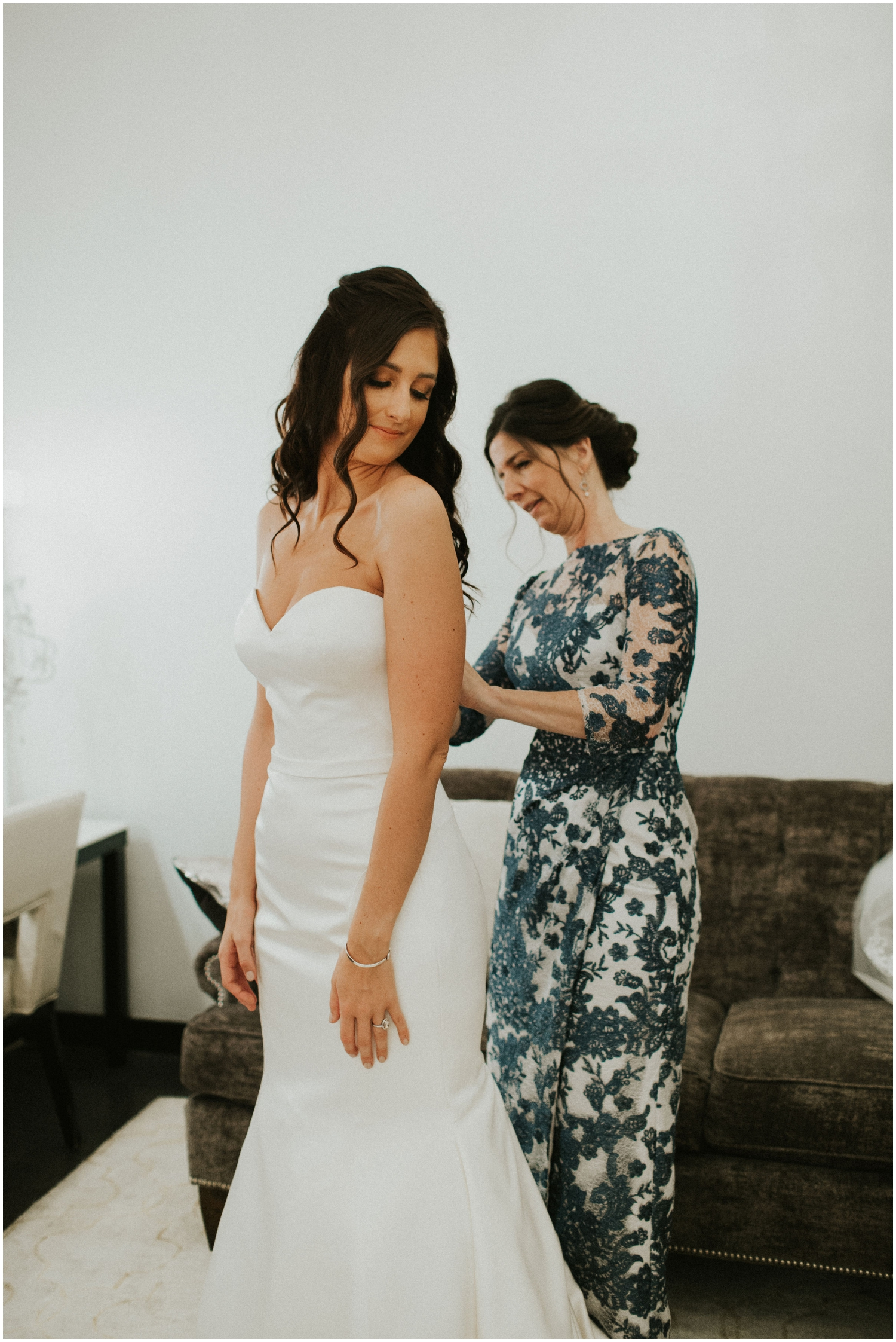 Bride Getting Ready For Her MN Wedding