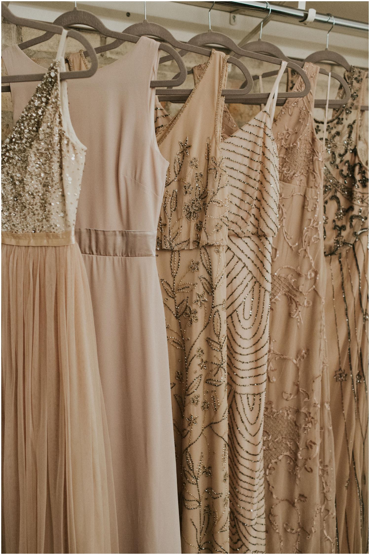 bridesmaids dresses detail