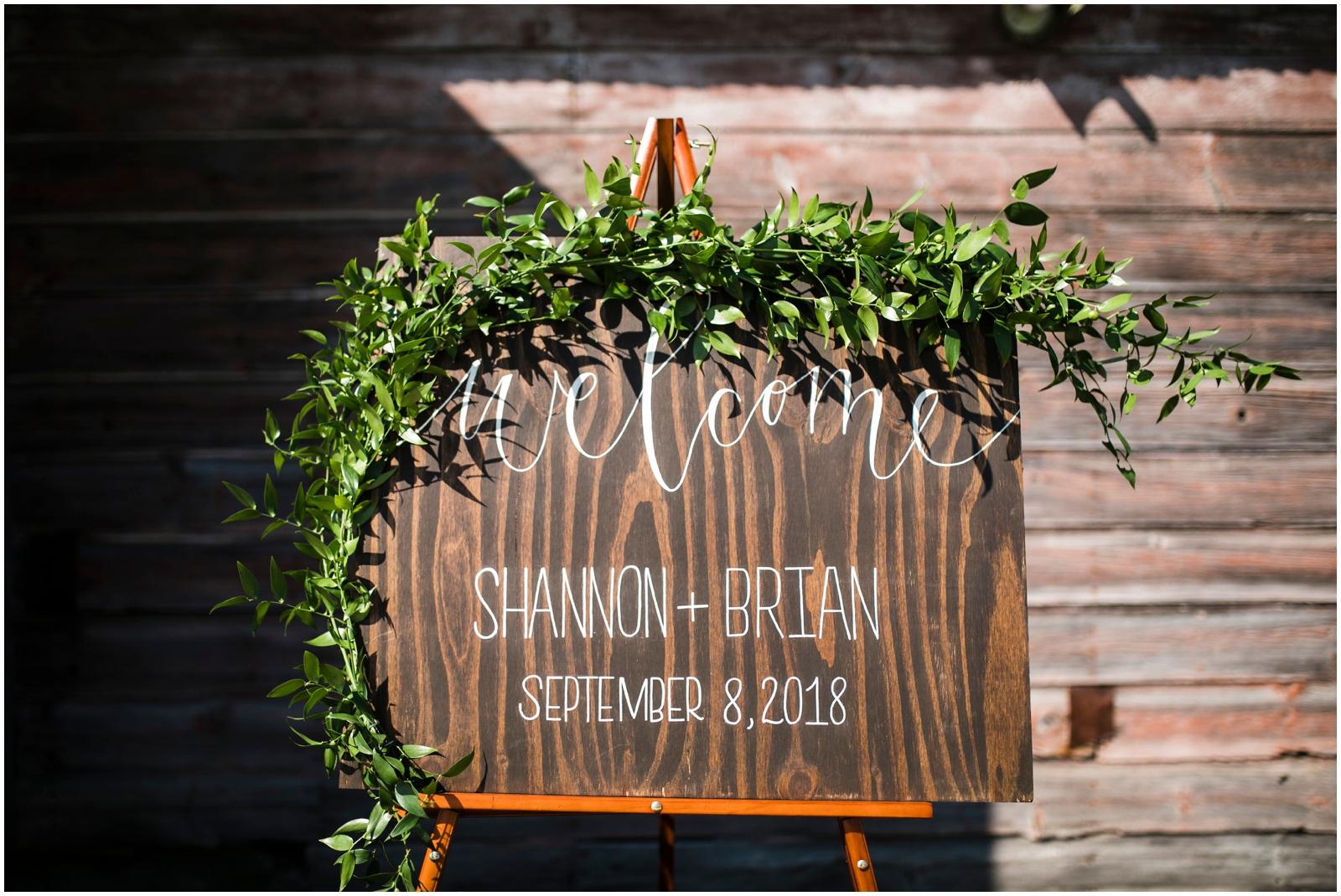 wedding ceremony sign decor