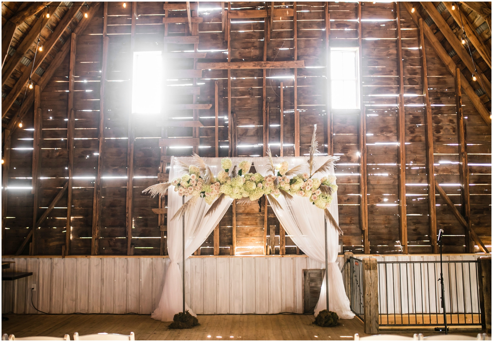 Wedding arch for ceremony