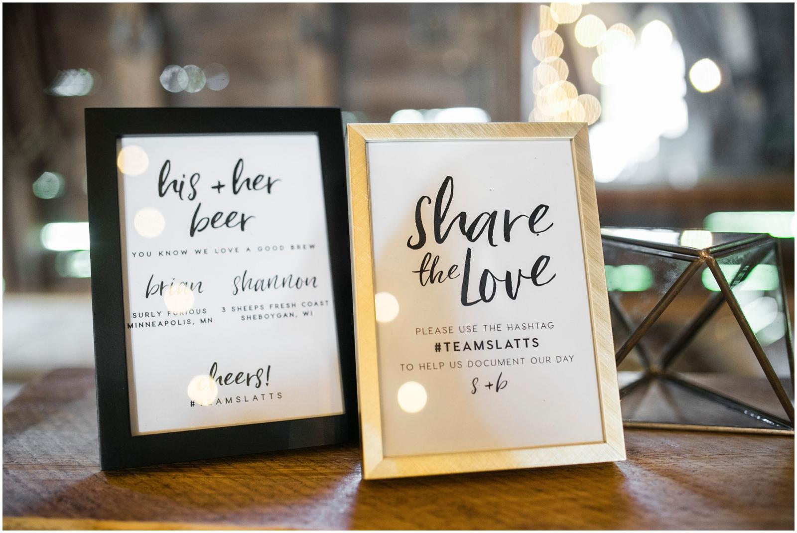 Share the love hashtag wedding