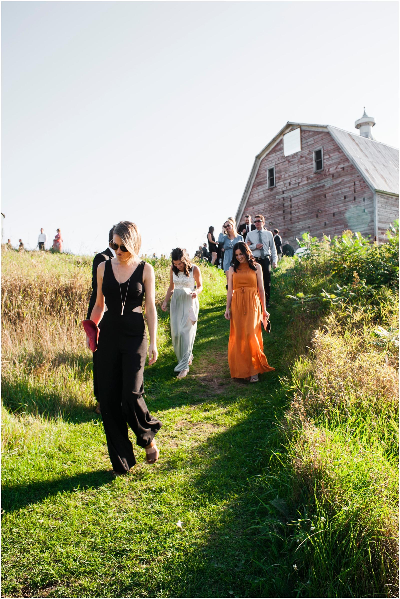 wedding guests in Wisconsin