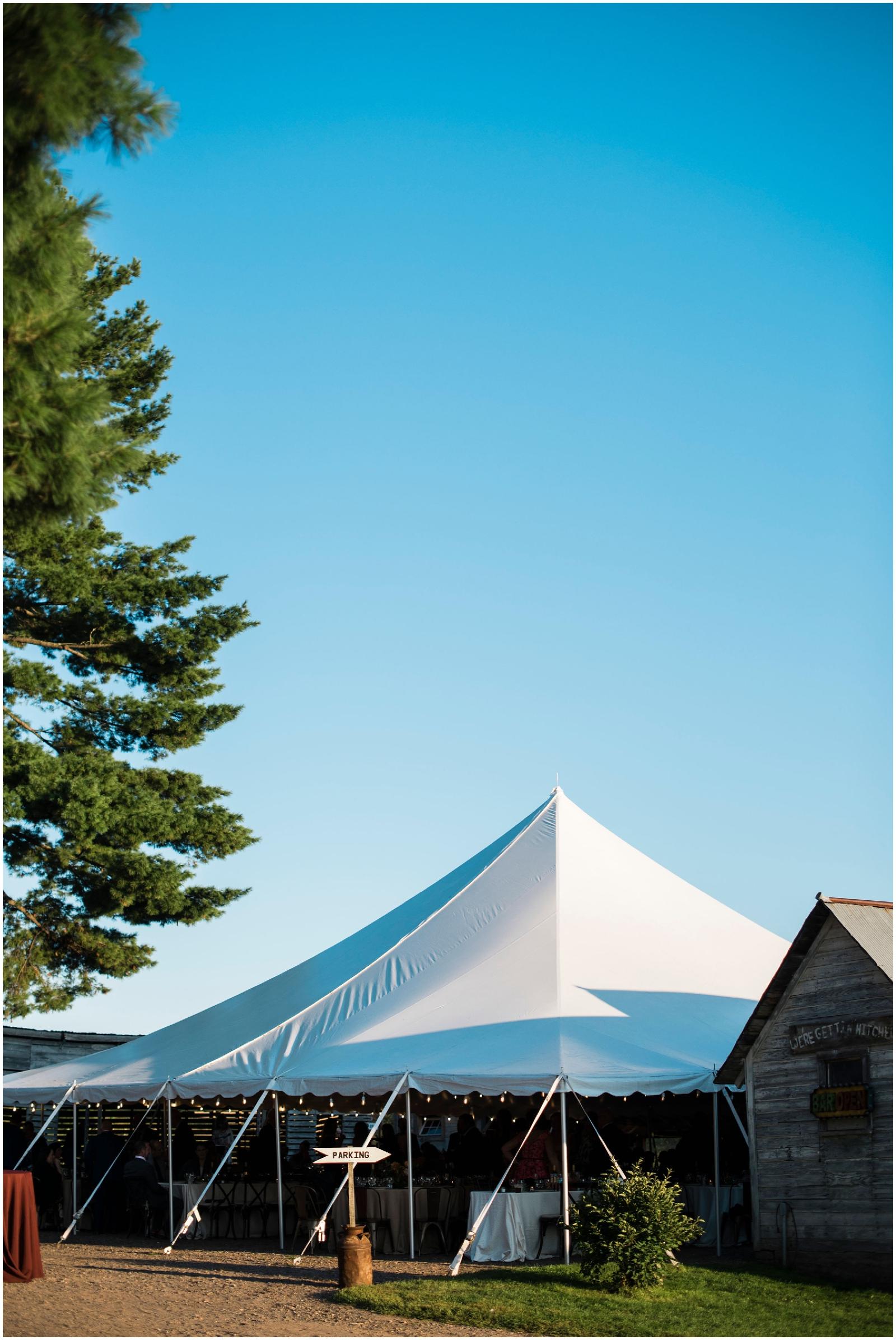 outdoor tent wedding in Wisconsin