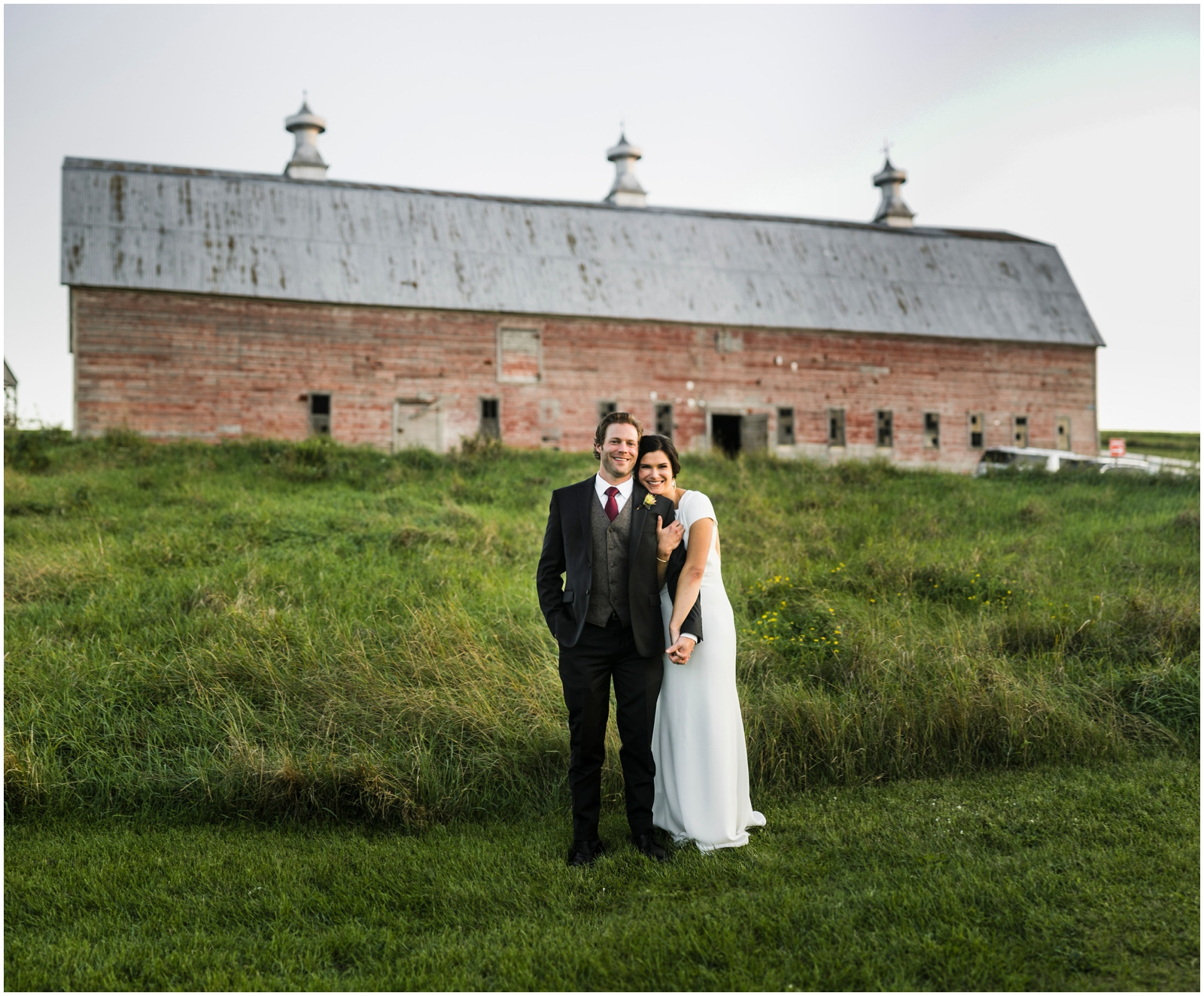 bride and groom at The Pinebrook Farms