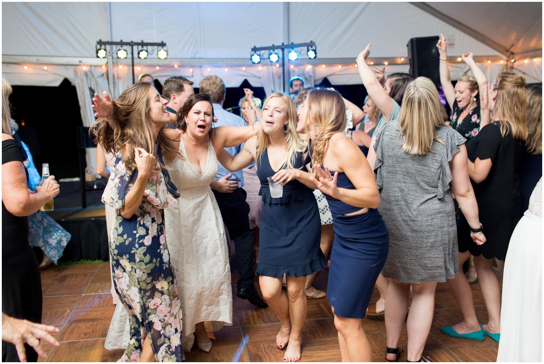 Wedding guests dancing at Jeff Keys Wedding