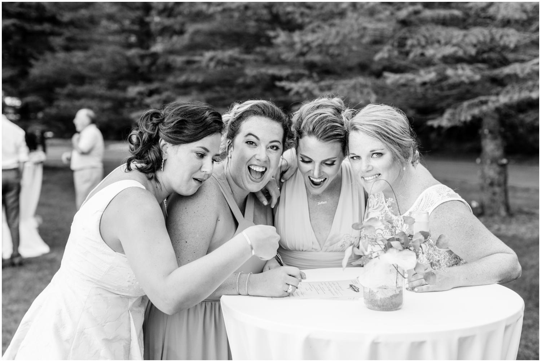 brides and bridesmaids at the MN wedding