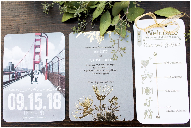 MN wedding invitation