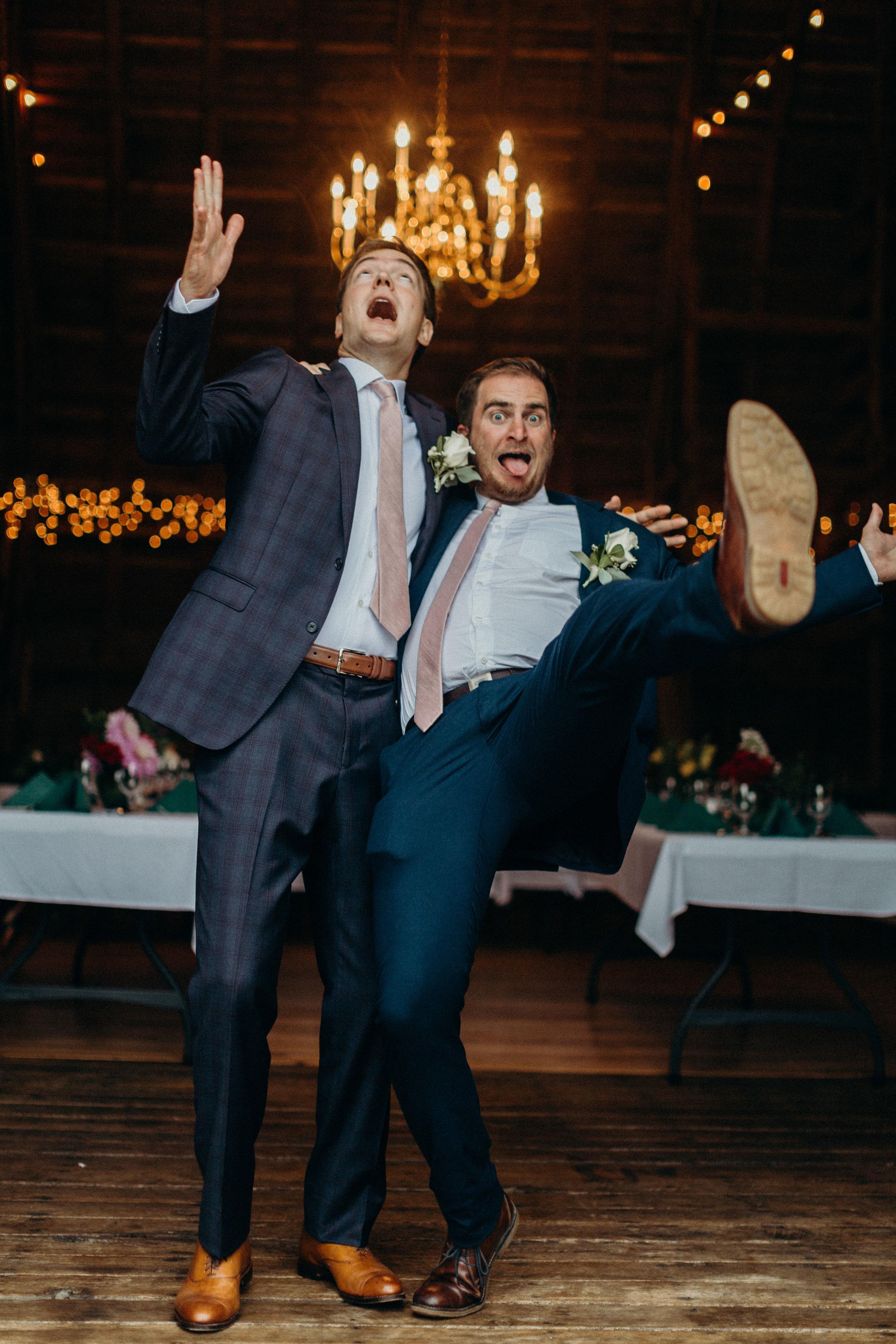 Groom  and his groomsman