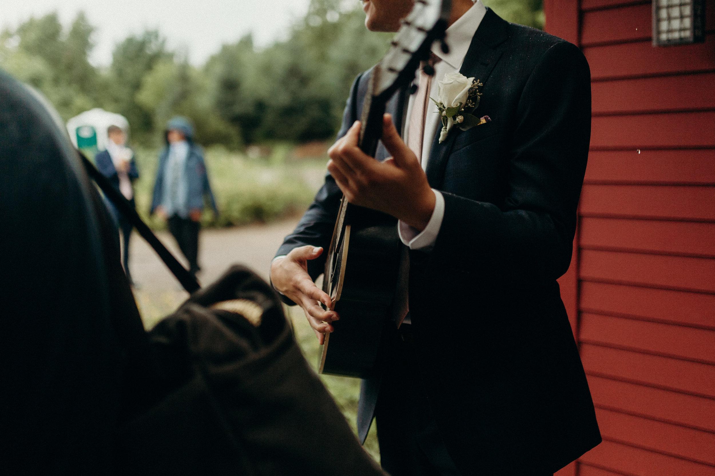 Musicians at Wisconsin wedding