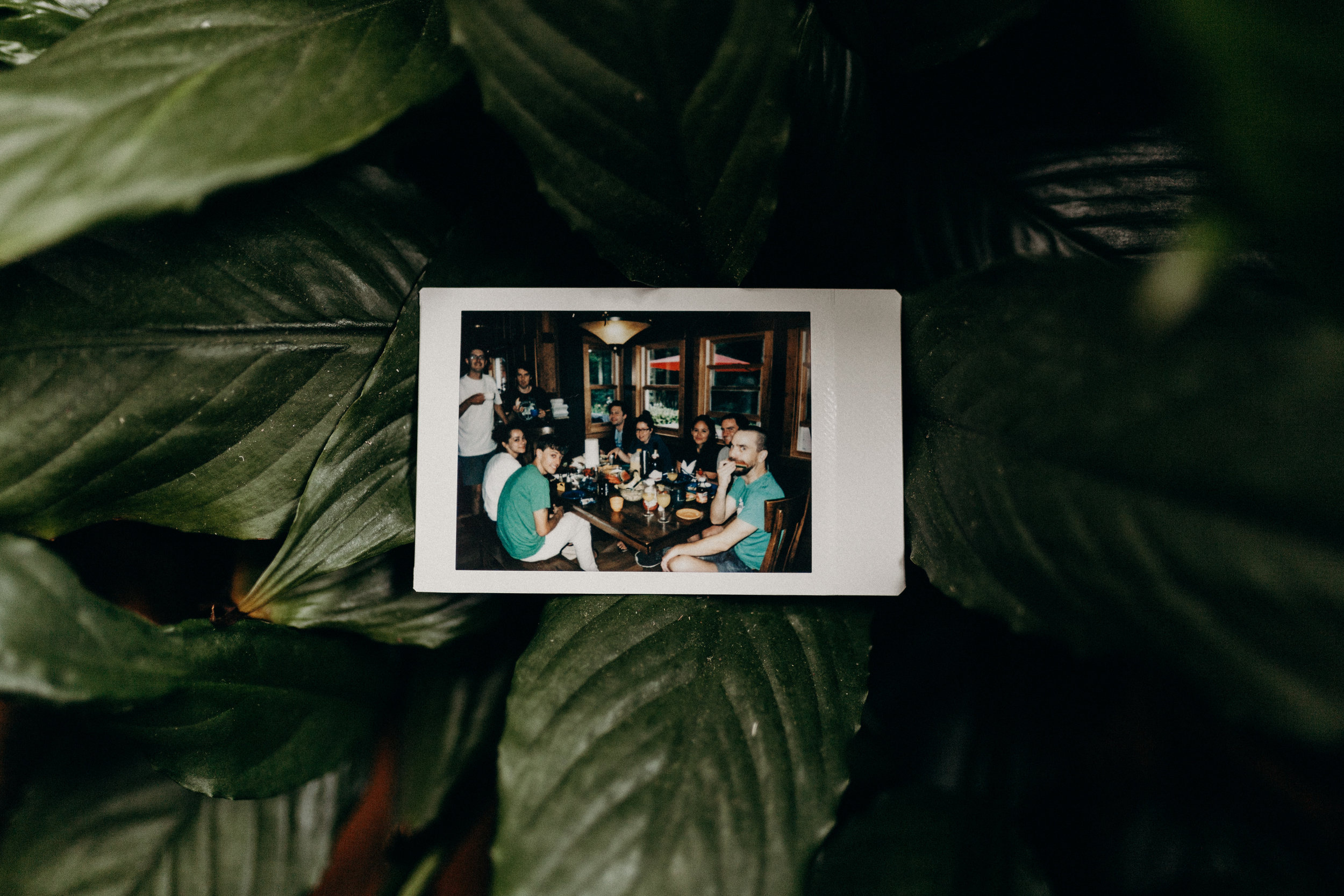 Polaroid groomsmen picture