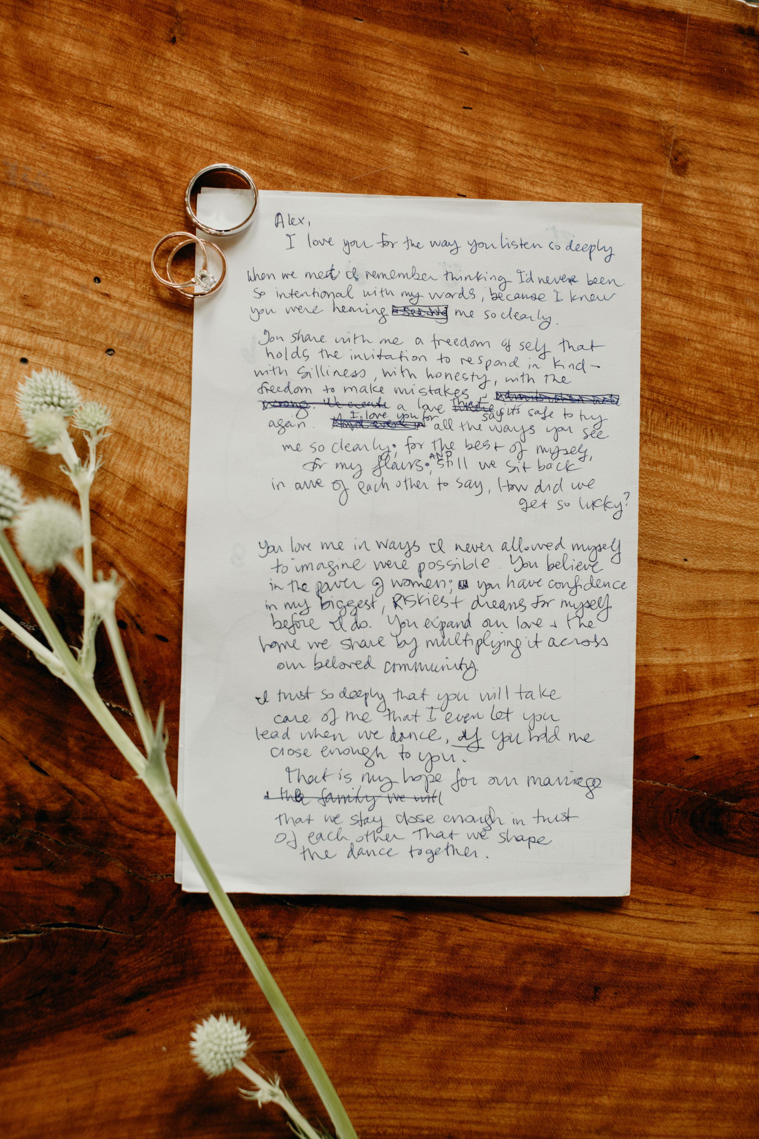 Love letter wedding in Wisconsin