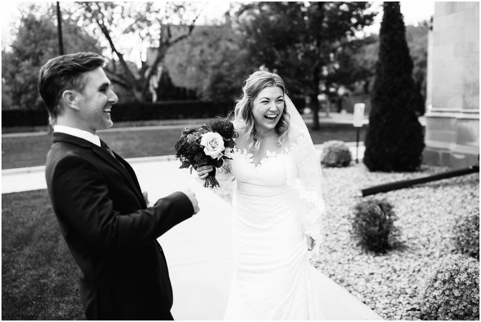 Minnesota Wedding Planner, Mpls Wedding Planner, Machine Shop MPLS, Mpls Wedding Venue . Bride and groom smiling