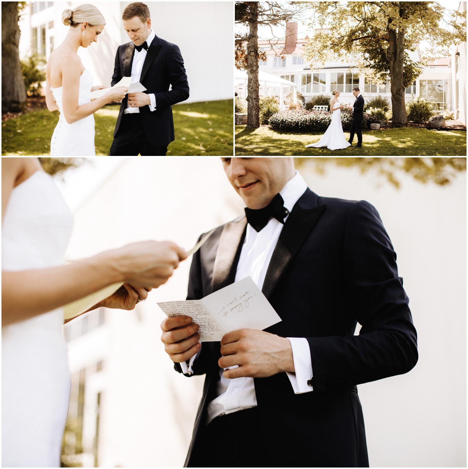 Minnesota Wedding Planner. Lafayette Club Wedding. Bride and groom's first look