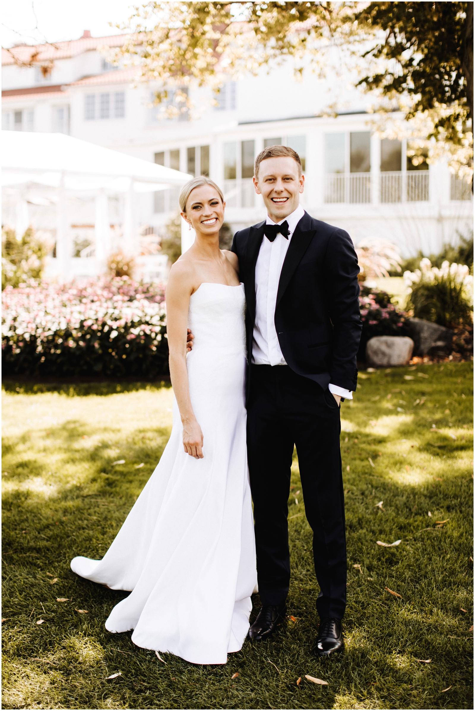 Minnesota Wedding Planner. Lafayette Club Wedding. Bride and groom before their wedding ceremony