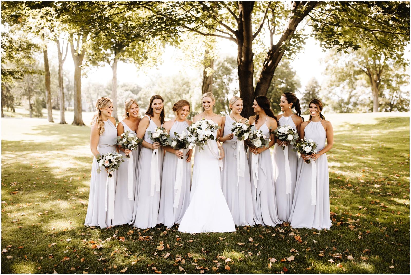 Minnesota Wedding Planner. Lafayette Club Wedding. Bride with her bridesmaids