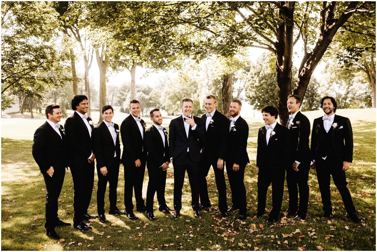 Minnesota Wedding Planner. Lafayette Club Wedding. Groomsmen in Minnesota
