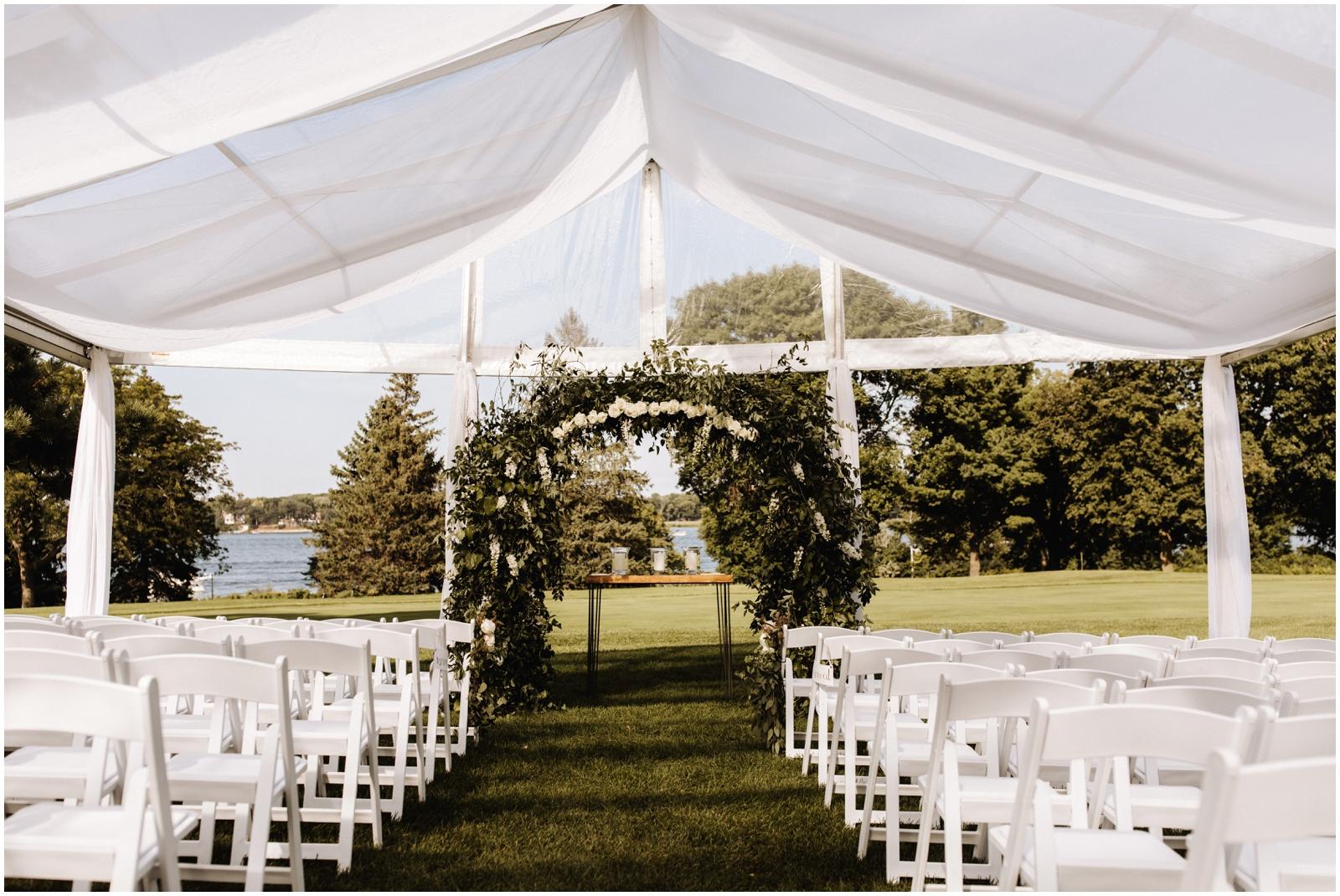Minnesota Wedding Planner. Lafayette Club Wedding. Outdoor Tent Wedding Ceremony
