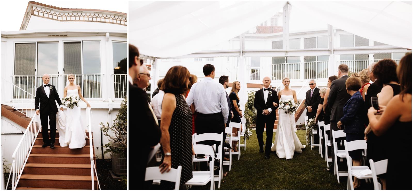 Minnesota Wedding Planner. Lafayette Club Wedding. Bride walking down the aisle
