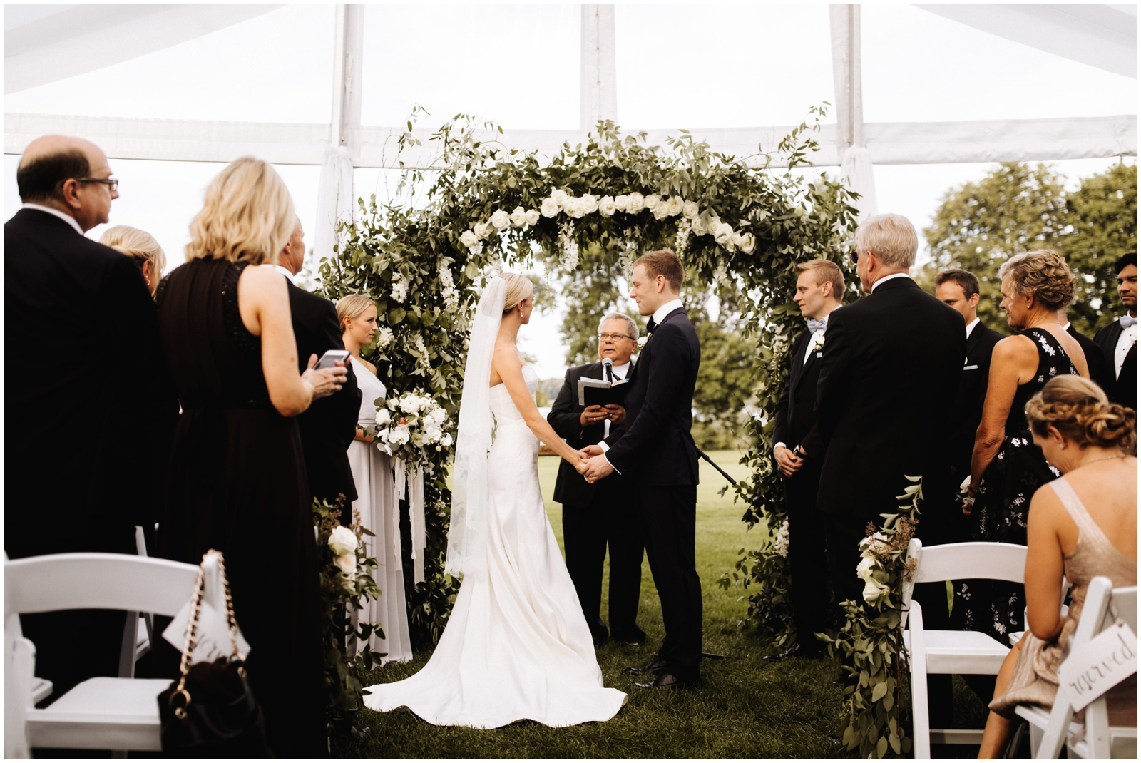 Minnesota Wedding Planner. Lafayette Club Wedding. Bride and groom during their wedding ceremony