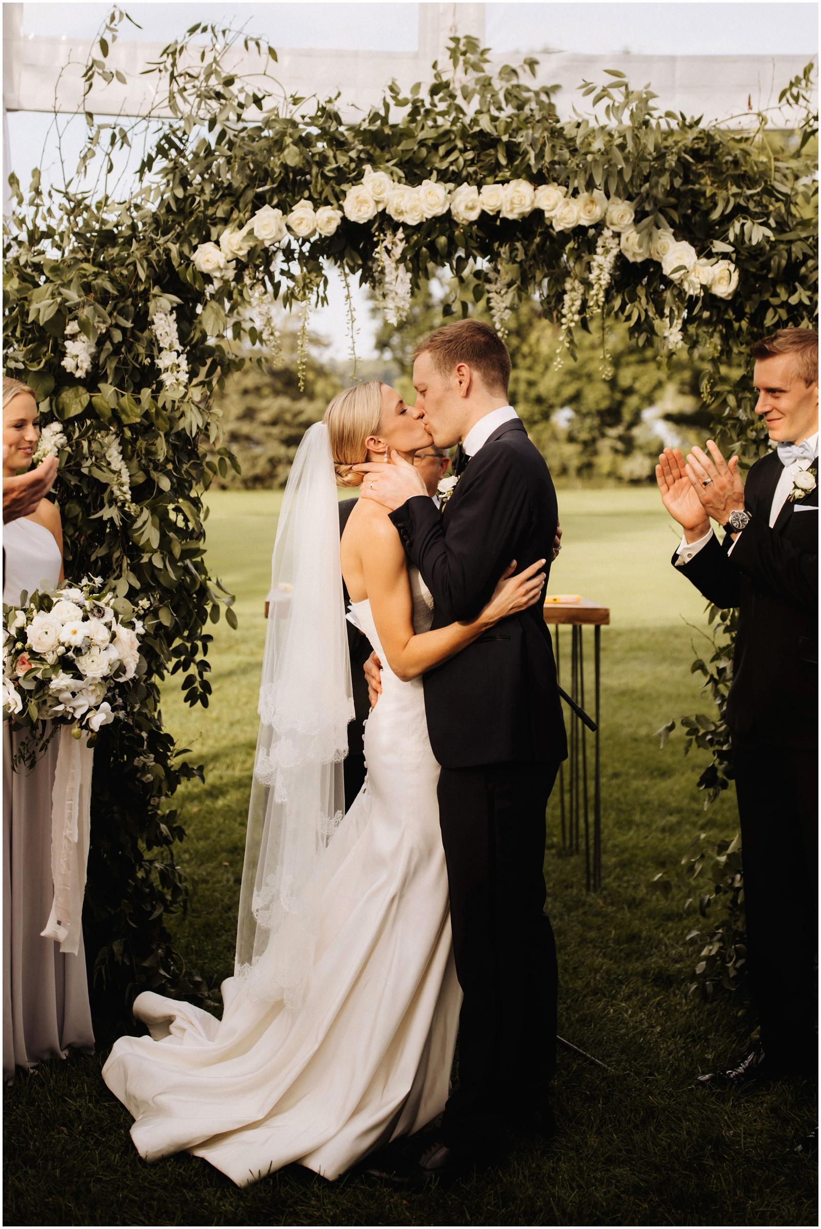 Minnesota Wedding Planner. Lafayette Club Wedding. Bride and groom say I do