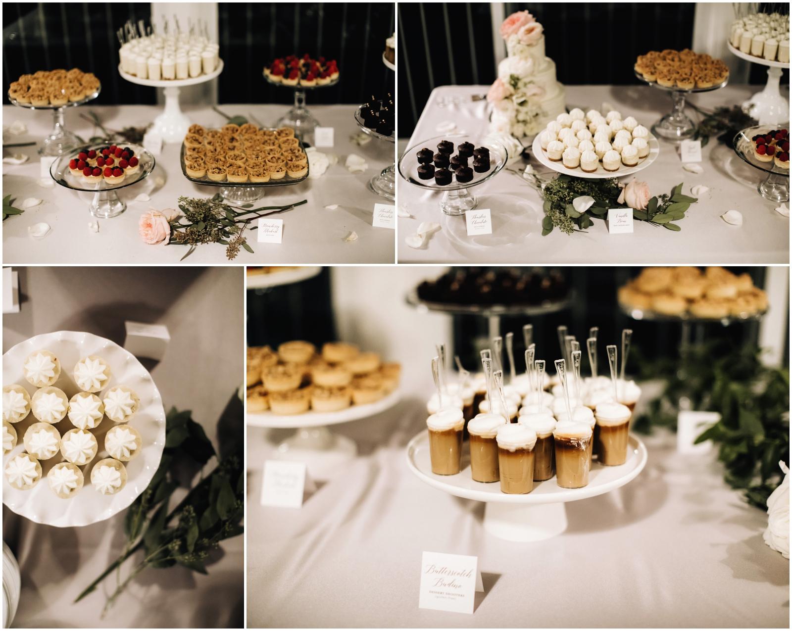Minnesota Wedding Planner. Lafayette Club Wedding. Wedding Reception Inspiration. Wedding Decor. Greenery Wedding. Dessert Display Table