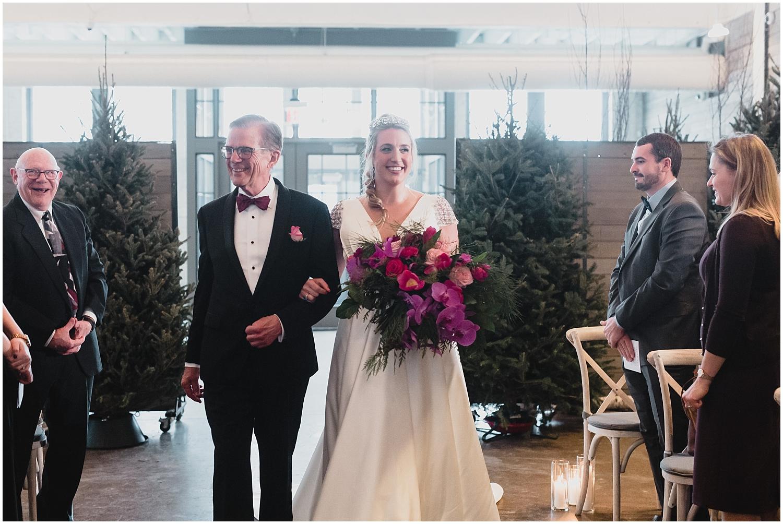 Minnesota Wedding Planner, Mpls Wedding Planner, Machine Shop MPLS, Mpls Wedding Venue,   Bride walking down the aisle