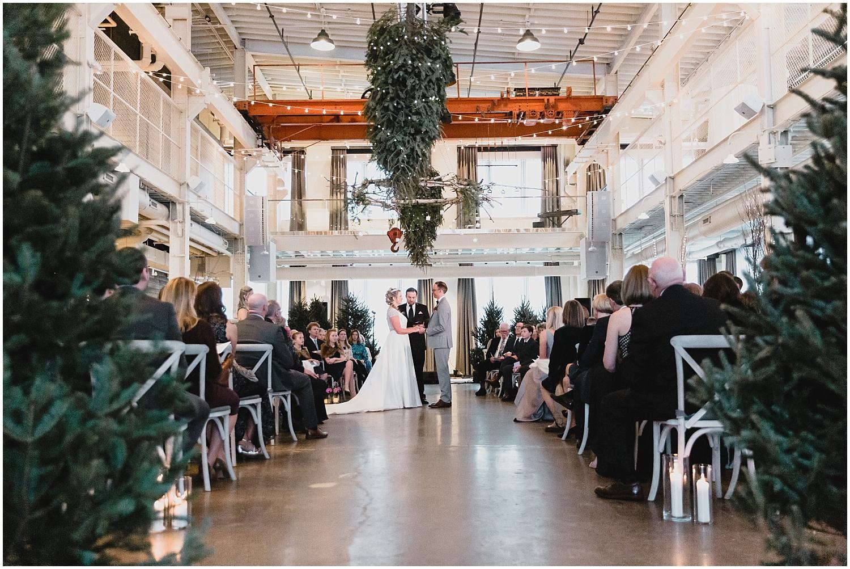 Minnesota Wedding Planner, Mpls Wedding Planner, Machine Shop MPLS, Mpls Wedding Venue,   Bride and groom during their Minnesota wedding ceremony