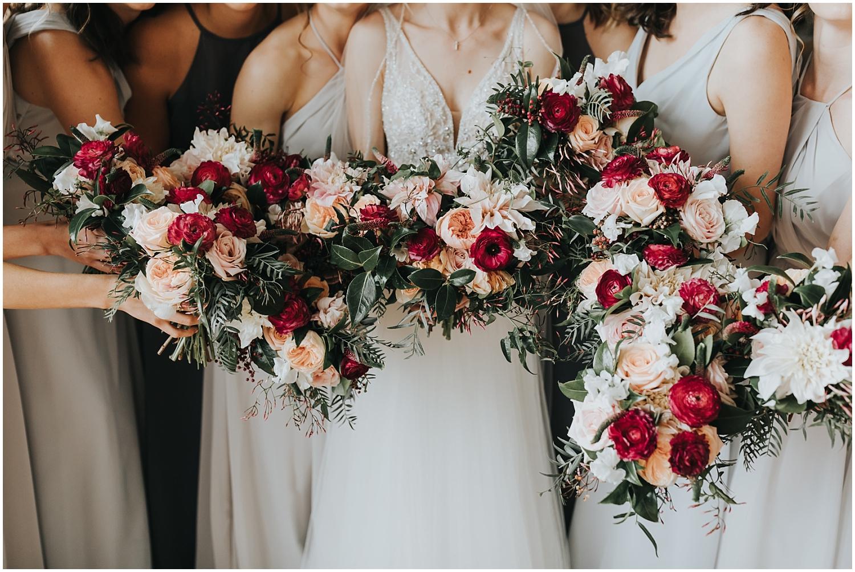 gorgeous bride and bridesmaids wedding bouquets