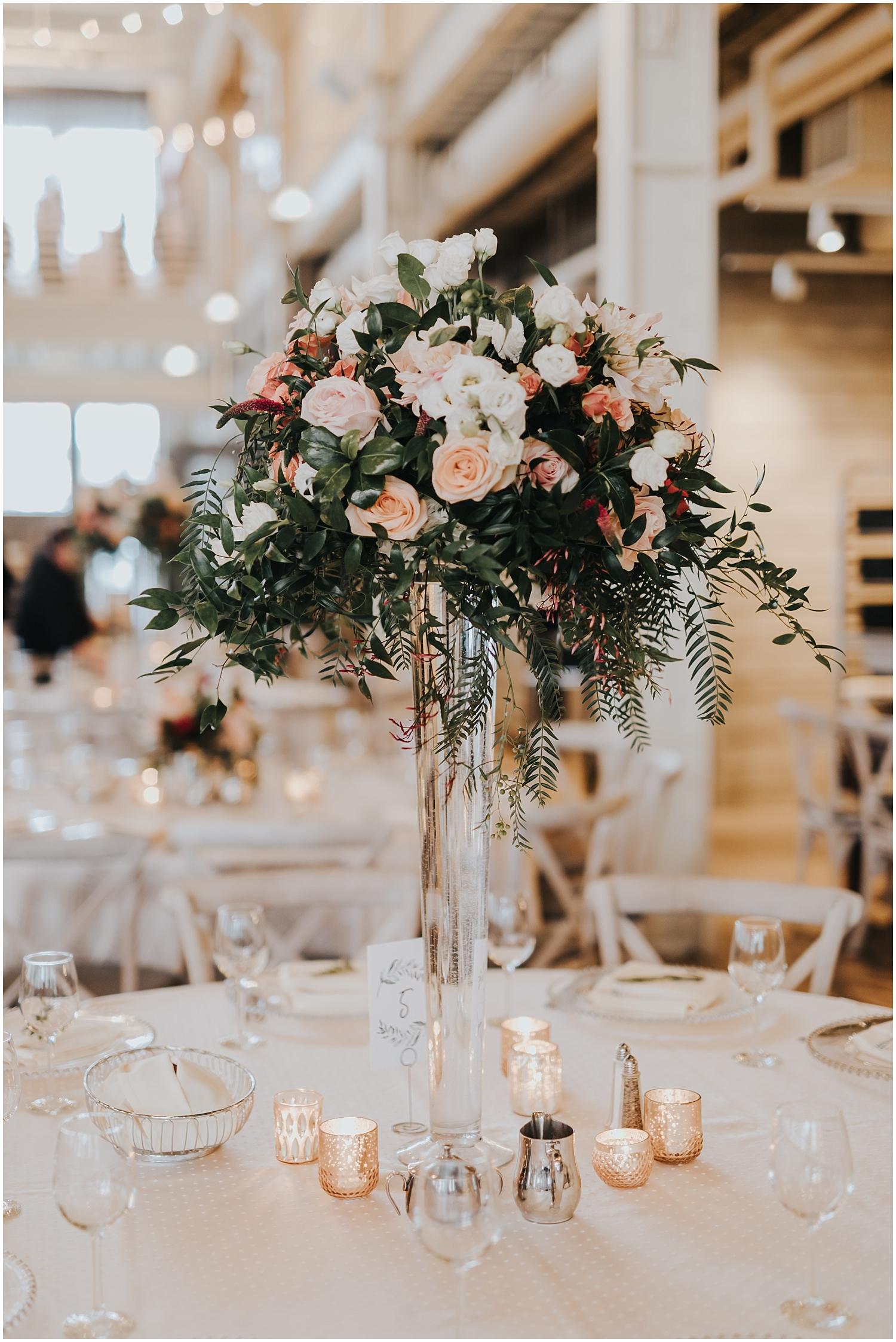 tall wedding floral centerpiece