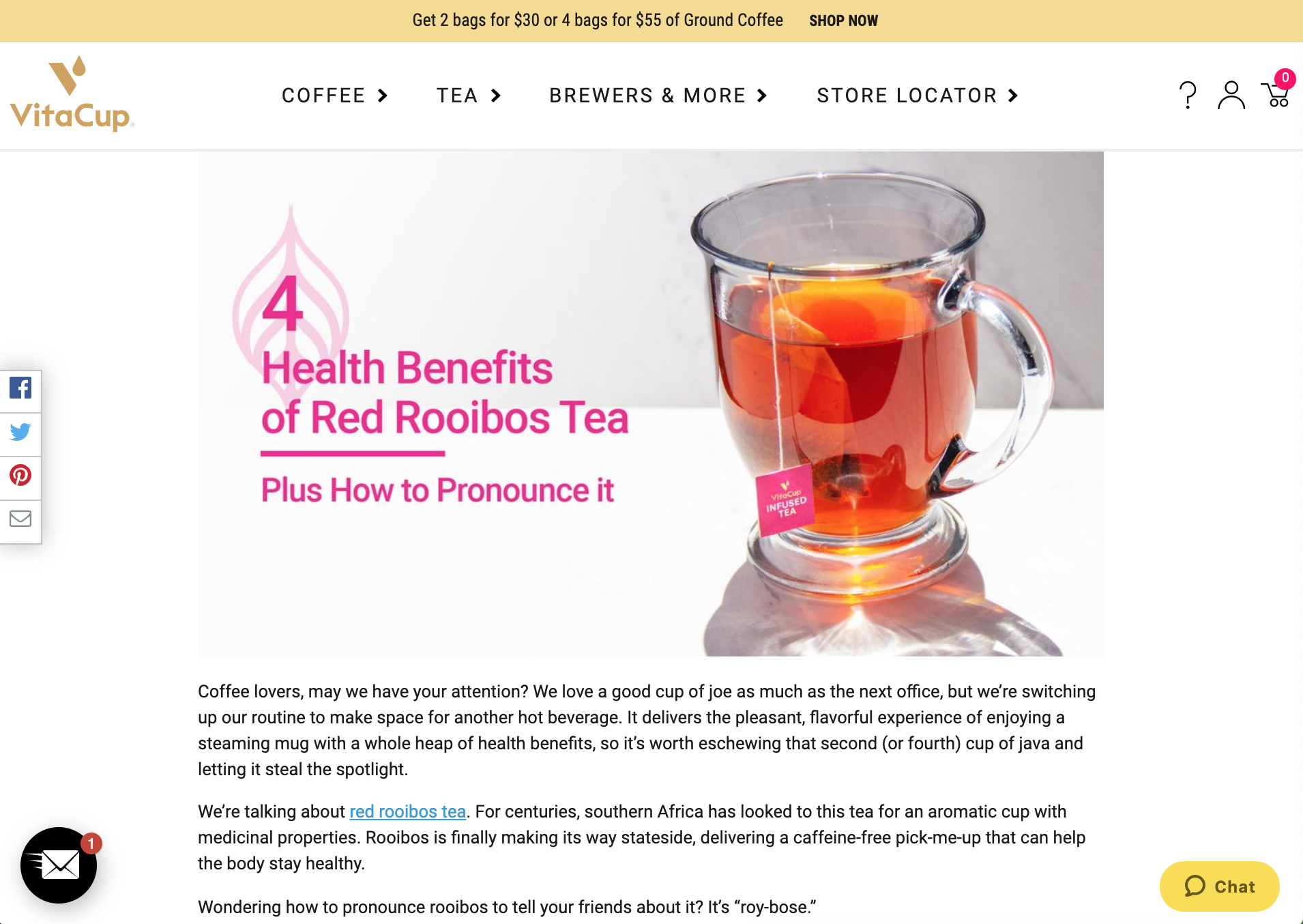 BLOGS: VitaCup - VitaCup makes coffee and tea infused with vitamins and other key ingredients to help you feel your best. Carpe diem with your morning beverage, you know? Their blogs focus on educating readers on their game-changing ingredients. You can see blogs I wrote on the health benefits of ingredients like rooibos tea and adaptogens.