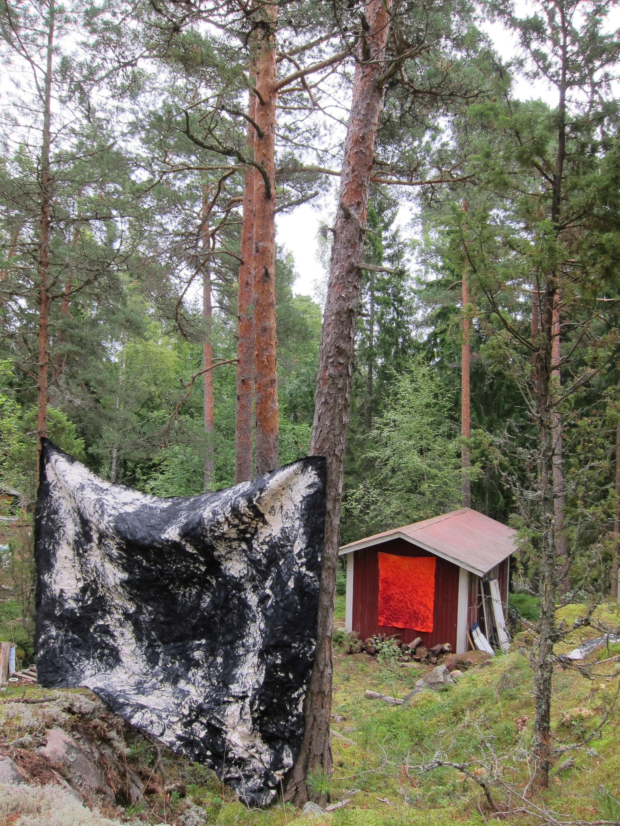 Forest studio.  Barösund, Finland 2017.